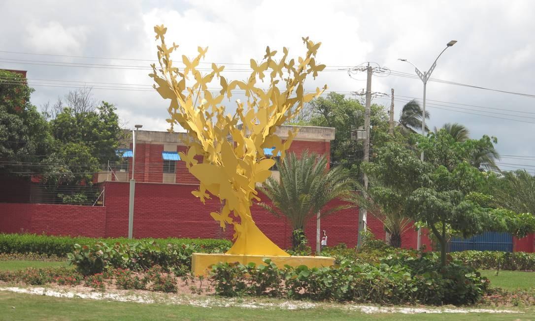 Barranquilla reconstitui as borboletas amarelas de 'Cem anos de solidão' Foto: Breno Salvador/O GLOBO