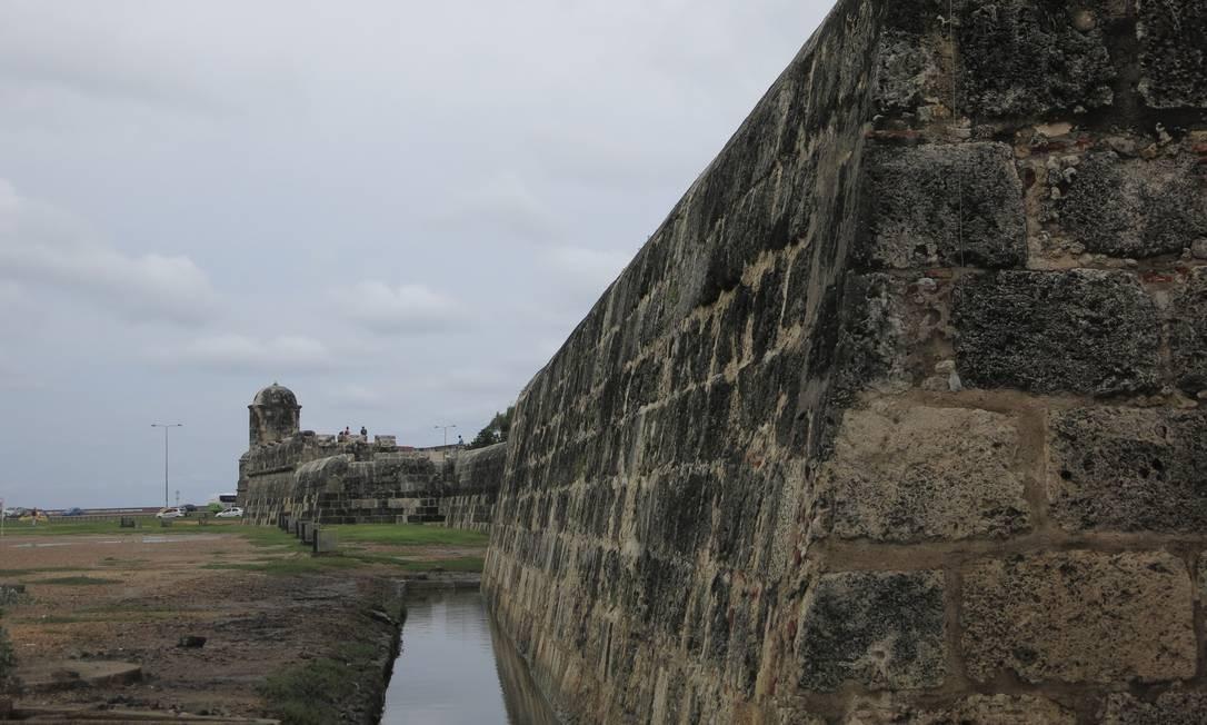 Muralha de Cartagena foi palco de histórias de Gabo Foto: Breno Salvador/O GLOBO