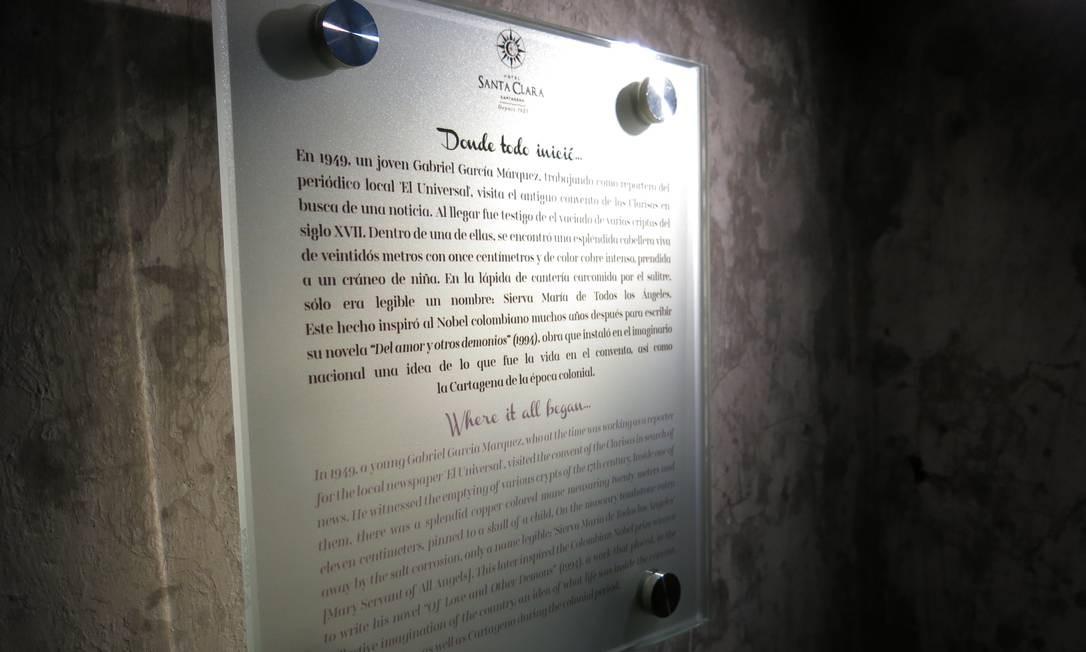 As antigas tumbas do Convento Santa Clara viraram atração turística do hotel homônimo, além de inspiração para 'O amor e outros demônios' Foto: Breno Salvador/O GLOBO