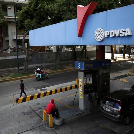 Logo da PDVSA em um posto de gasolina em Caracas, Venezuela Foto: Andres Martinez Casares / REUTERS