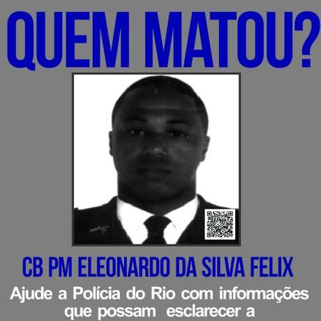 Cartaz estampa rosto de PM morto em Barra Mansa Foto: Divulgação/Portal dos Procurados