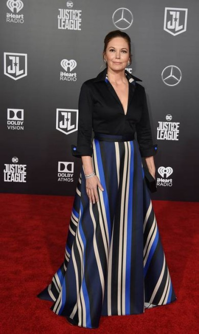 Diane Lane, que interpreta a mãe da Mulher Maravilha ROBYN BECK / AFP