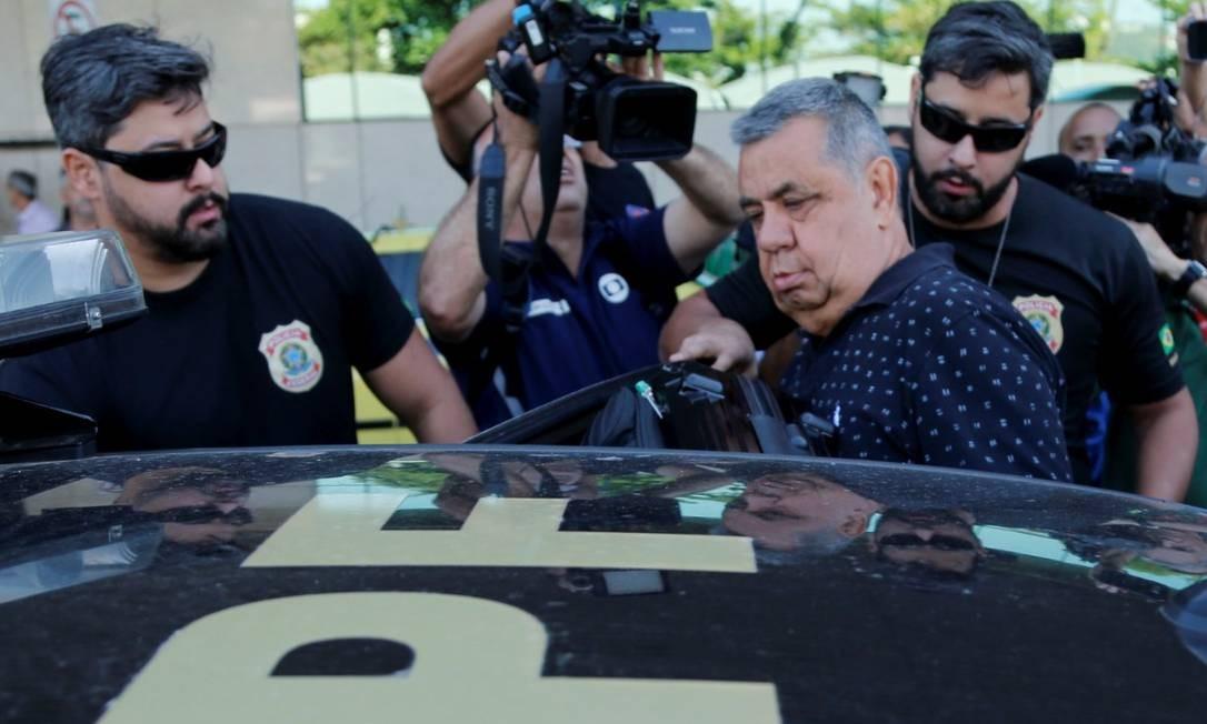 """Presidente da Alerj, Jorge Picciani foi alvo da operação Cadeia Velha e teve que depor na PF. Ele foi conduzido pelos """"gêmeos da Federal"""" Antônio Scorza/Agência O Globo"""