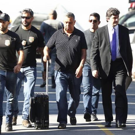 Operação Cadeia Velha: Jorge Picciani, presidente da Alerj, chega na PF Foto: Pablo Jacob / Agência O Globo
