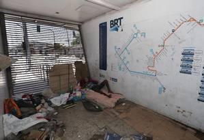 Vila Paciência: estrutura ganhou um morador há três meses Foto: Marcio Alves / Agência O Globo