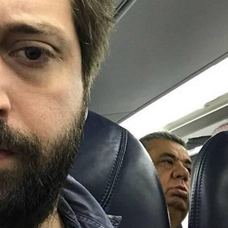 Gregório Duvivier estava no mesmo voo de Jorge Picianni Foto: Reprodução / Instagram