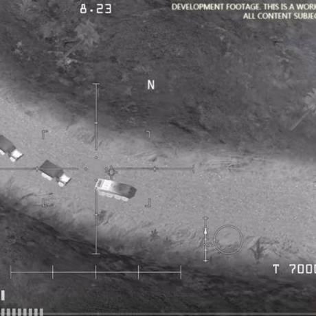 Foto de jogo chamado AC-130 Gunship Simulator: Special Ops Squadron foi usada pelo Ministério de Defesa da Rússia como prova da ajuda dos EUA ao Estado Islâmico Foto: Reprodução Youtube