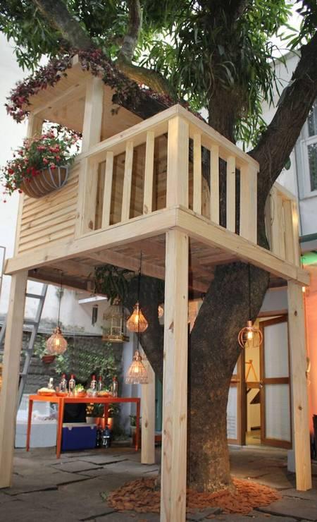 Acasinha na árvore foi projetada por Paula Bergamin, da Ecogarden Foto: Divulgação