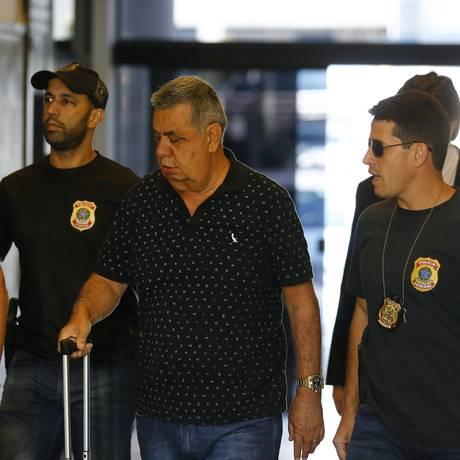O presidente da Alerj, Jorge Picciani, foi levado coercitivamente para depor na Polícia Federal Foto: Pablo Jacob / Agência O Globo 14/11/2017