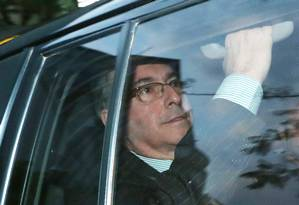 O ex-presidente da Câmara dos Deputados Eduardo Cunha na Justiça Federal de Brasília Foto: Ailton de Freitas / Ailton de Freitas/Agência O Globo/27-10-2017