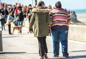 Excesso de peso é um dos principais fatores de risco para o desenvolvimento de diabetes Foto: Philippe Huguen / AFP