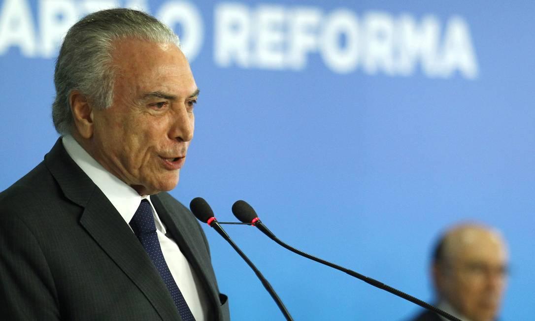 Temer quer que reforma ministerial renda votos para a Previdência