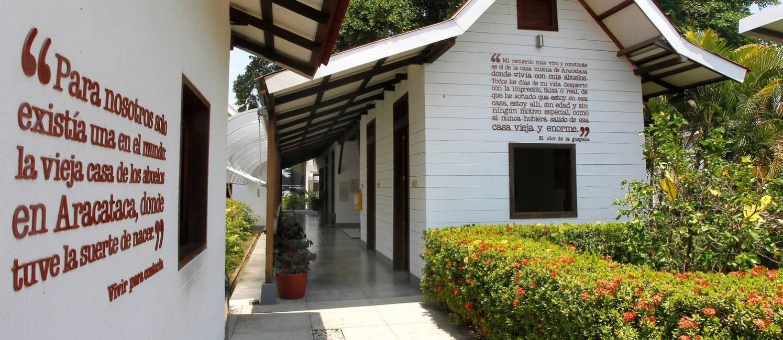 A Casa Museu García Márquez, local de nascença de Gabo reconstruído como centro cultural em Aracataca Foto: GUILLERMO GONZÁLEZ / El Tiempo/GDA