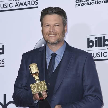 Blake Shelton no Billboard Music Awards, em maio: ele foi eleito o homem mais sexy do mundo Foto: Richard Shotwell / Richard Shotwell/Invision/AP