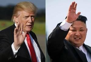 O presidente dos EUA, Donald Trump, e o líder norte-coreano Kim Jong-un Foto: AFP