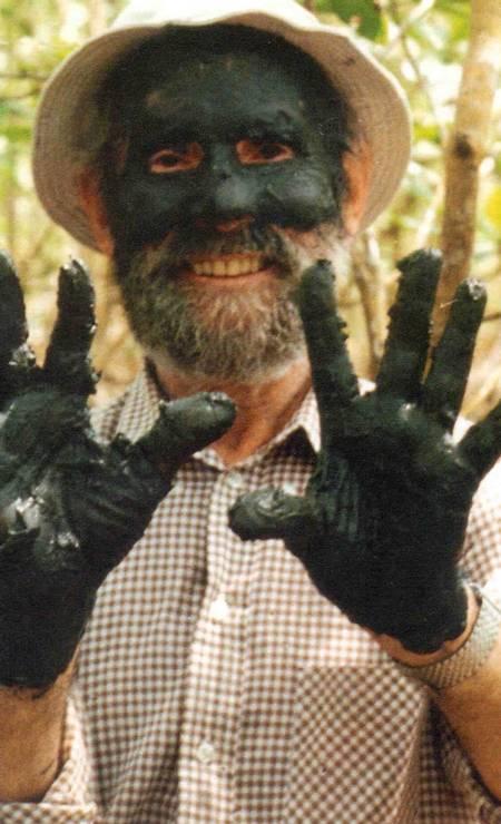 Frans Krajcberg na comemoração dos 10 anos do programa 'Globo Ecologia'. A foto foi tirada em 29 de novembro de 2000. Foto: Divulgação