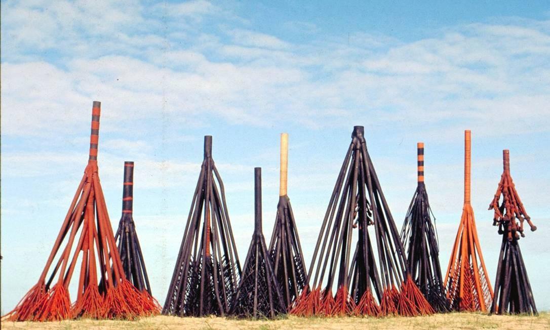 Esculturas de Frans Krajcberg. A imagem é de abril de 2011. O artista lutou na Segunda Guerra Mundial, mas, antes, estudou engenharia e artes na Universidade de Leningrado Foto: Divulgação