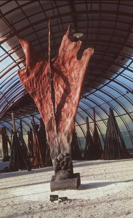 Uma das obras de Frans Krajberg. A imagem é de dezembro de 1999 Foto: Divulgação