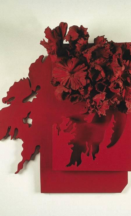Obra 'Floração', de Frans Krajcberg, da exposição 'Chroma' no MAM em fevereiro de 2005 Foto: Divulgação