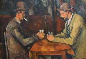 'Les Joueurs de cartes', de Paul Cézanne Foto: Reprodução
