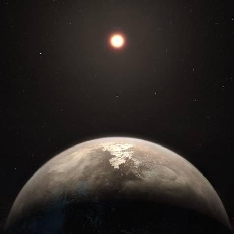 Ilustração artística de Ross 128b Foto: ESO/M. Kornmesser