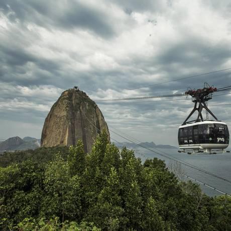 Bondinho do Pão de Açúcar. Foto Guito Moreto / Agência O Globo