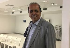 O governador do Rio, Luiz Fernando Pezão Foto: Natália Boere / Agência O Globo