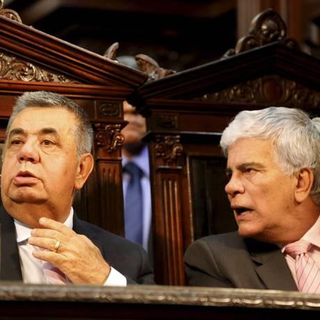 Jorge Picciani e Wagner Montes 04-10-2016 Foto: Domingos Peixoto / Agência O Globo