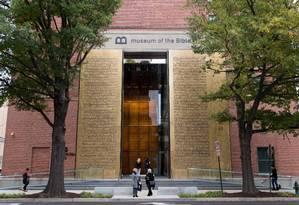 Fachada no novo Museu de Bíblia, em Washington Foto: SAUL LOEB / AFP
