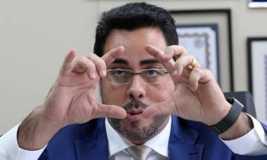 O juiz Marcelo Bretas em seu gabinete: percepção de que há uma forte reação contra as investigações Foto: Custódio Coimbra / Agência O Globo