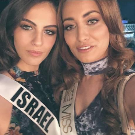 Miss Israel posa ao lado da Miss Iraque Foto: Reprodução/Instagram