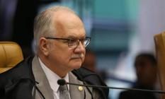 O ministro Luiz Edson Fachin, do Supremo Tribunal Federal (STF), durante sessão Foto: Givaldo Barbosa / Agência O Globo