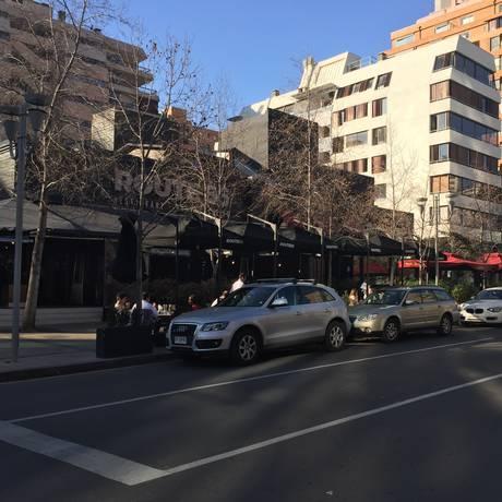 Restaurantes. A Rua Isadora Goyenechea de Santiago é point gastronômico. E o PF Chang's é especializado na gastronomia asiática Foto: Foto de Janaína Figueiredo