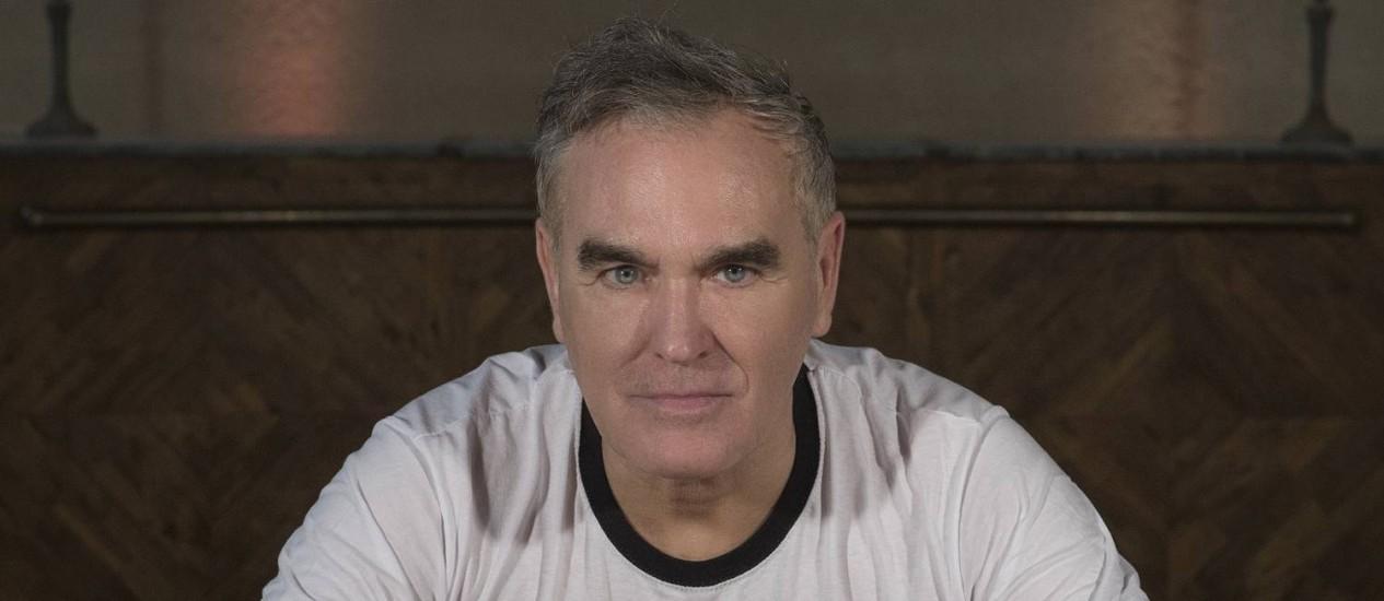 O cantor e compositor inglês Morrissey Foto: Divulgação