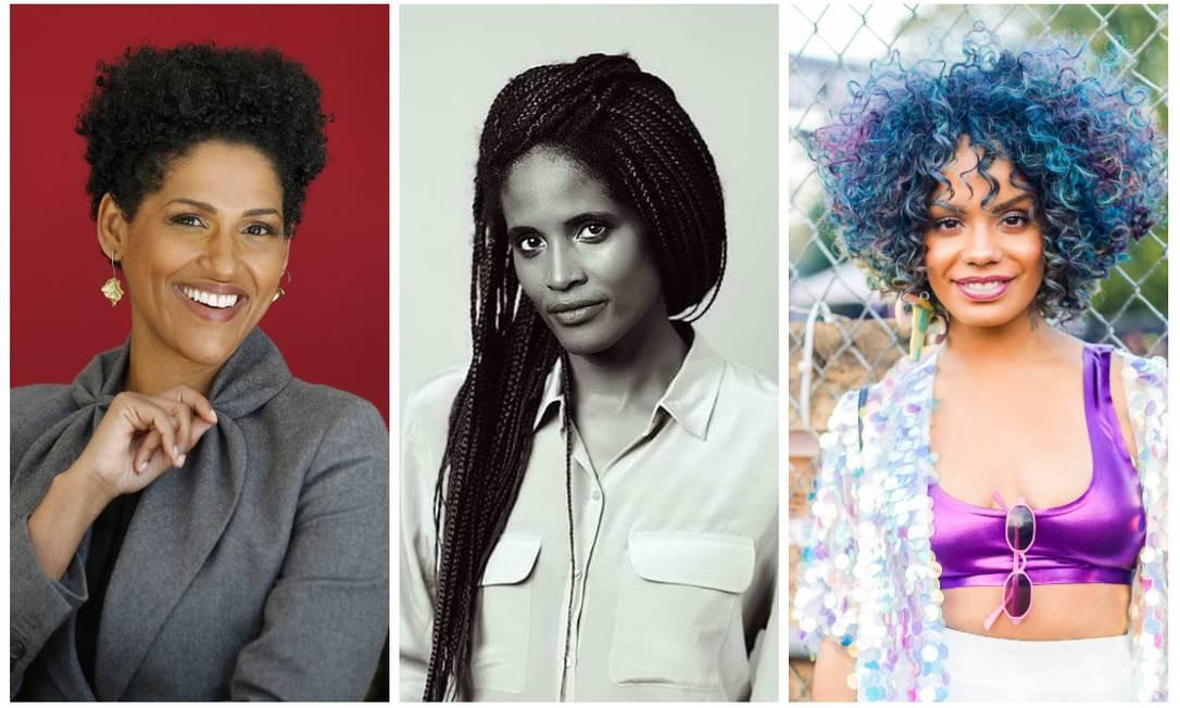 Vozes poderosas: Alexandra Loras, Djamila Ribeiro e Magá Moura Foto: Fotos de divulgação