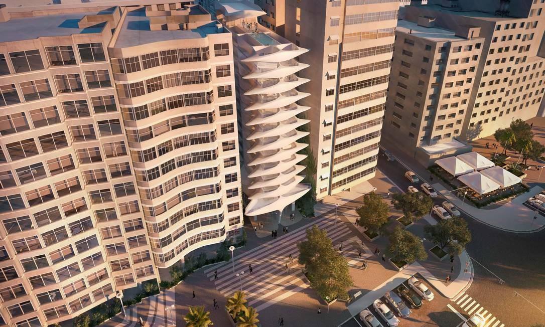 O luxuoso edifício residencial terá 30 unidades Foto: Reprodução