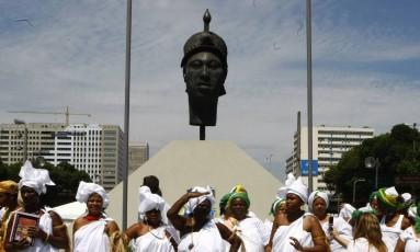 Comemoração do Dia da Consciência Negra, na Avenida Presidente Vargas, no Centro do Rio Foto: Pablo Jacob 20/11/2010 / Agência O Globo