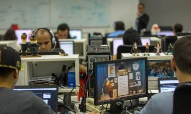 Escritório do Comunique-se no Rio Foto: Lucíola Villela / Agência O Globo