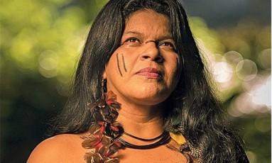 A ativista Sonia Guajajara só entendeu os conflitos em áreas indígenas fora da aldeia: 'A vida de todo mundo está em jogo' Foto: Ana Branco/12-4-2016