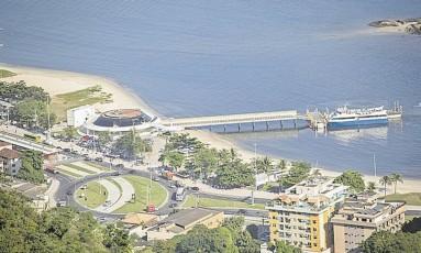 Ponto. Charitas: VLT ligaria a estação hidroviária com a do Centro Foto: Analice Paron/09-05-2017 / Agência O Globo