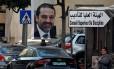Poster com a imagem de Hariri em Beirute Foto: JAMAL SAIDI / REUTERS/