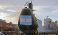 O submarino ARA San Juan em partida de Buenos Aires Foto: ARGENTINA'S DEFENSE MINISTRY / AFP
