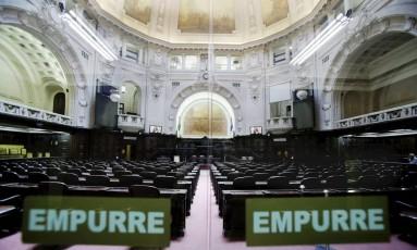 Interior da Alerj antes da sessão que libertou os deputados presos pela justiça Foto: Alexandre Cassiano / Agência O Globo