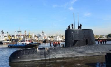 O ARA San Juan, desaparecido na Argentina Foto: HANDOUT / AFP