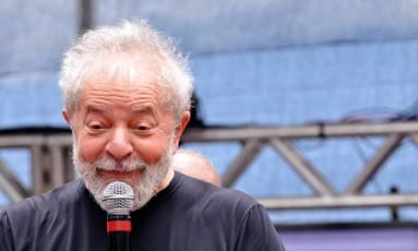 Lula em ato de 35 anos do PT, em Diadema Foto: Código 19 / Agência O Globo