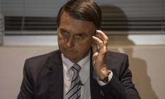 Bolsonaro foi procurado pela reportagem em três dias diferentes durante a última semana, mas não falou Foto: Alexandre Cassiano / Agência O Globo