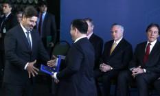 Fernando Segóvia participa da cerimônia de posse no cargo de diretor-geral da Polícia Federal Foto: Jorge William / Agência O Globo