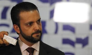 Deputado Alexandre Baldy (PTN-GO) durante entrevista. Foto: Givaldo Barbosa / Agência O Globo
