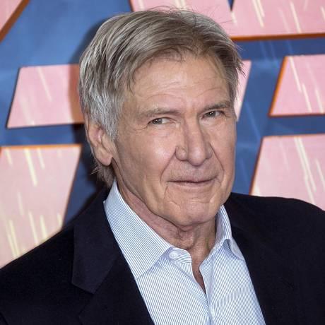 Harrison Ford posa durante divulgação de