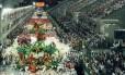"""Desfile campeão de 1992 da Estácio de Sá com o enredo """"Paulicéia Desvairada, 70 anos de Modernismo no Brasil"""" Foto: Arquivo / 02/03/1992 / Sebastião Marinho / Agência O Globo"""